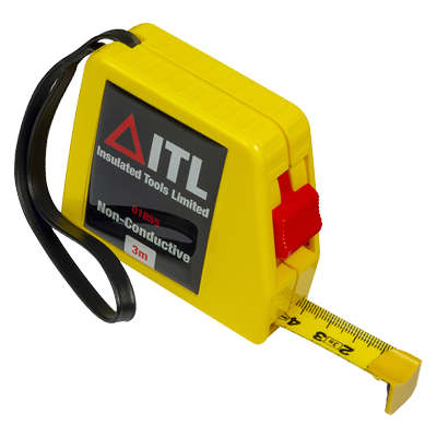 Insulated 3 Metre Non Conductive Tape Measure